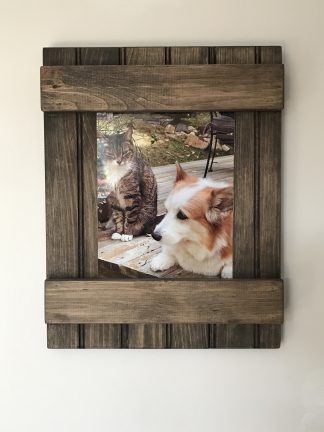 Rustic picture frame with sliding glass