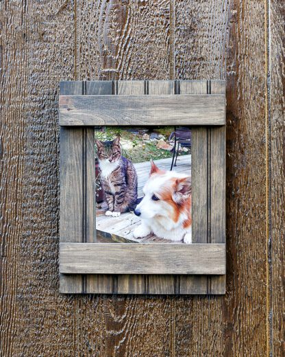 Wooden sliding glass picture frame 8X10