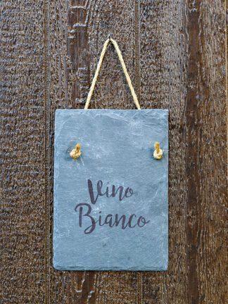 Vino Blanco slate wall hanging